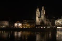 's nachts Zürich Stock Fotografie