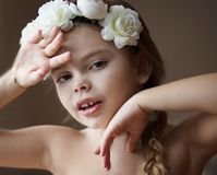 She`s a natural beauty. Little beauty girl. Close up royalty free stock photography