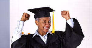 It's never too late to graduate stock image