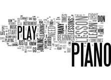 It S Never Too Late To Take A Beginner Piano Lesson Word Cloud Concept Stock Photography