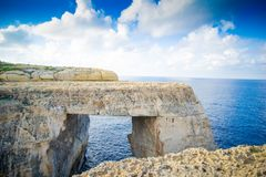 New azure window at gozo malta. It`s new named azure window at malta Stock Photography