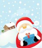 s niespodzianka Santa ilustracja wektor