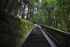 S34 Nikko stairs Royalty Free Stock Images