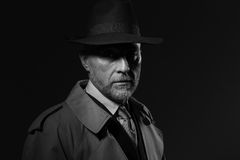 1950s noir movie character Royalty Free Stock Photo
