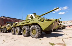2S23 nona-SVK 120mm gemotoriseerde mortierdrager Stock Fotografie