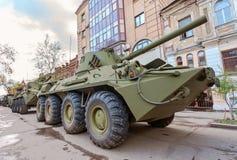 2S23 nona-SVK 120mm gemotoriseerde mortierdrager Stock Afbeeldingen