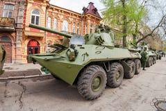2S23 nona-SVK 120mm gemotoriseerde mortierdrager Stock Foto's