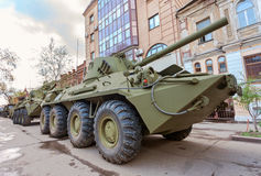 2S23 Nona-SVK 120mm self-propelled mortar carrier Stock Images
