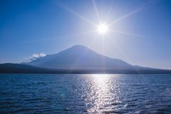 Mountain Lake, Mount Fuji stock photography