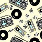 80s nostalgia style, Vintage retro 80`s  fashion seamless background. Disco style Stock Photography