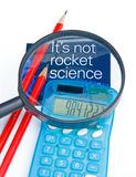 It's not rocket science. stock images