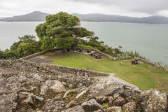 São José da Ponta Grossa Fortress - Florianópolis/SC - Brazil Royalty Free Stock Photography