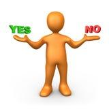 Sì o no Fotografia Stock Libera da Diritti