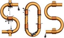 S.O.S. Royalty-vrije Stock Foto's
