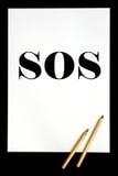 S.O.S. stock afbeelding