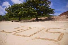 S.O.S en la arena; Fotos de archivo