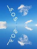 S.o.s. in the sky Stock Image