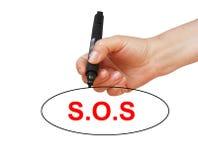 S.O.S Stock Photo