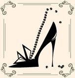 s obuwiana rocznika kobieta Fotografia Royalty Free