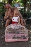 S'occuper des petits-enfants Images stock