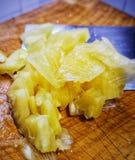 Słodcy ananasowi plasterki, tropikalna owoc w Tajlandia zdjęcie royalty free