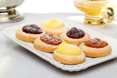 słodcy asortymentów ciasta Fotografia Royalty Free