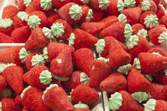 Słodcy cukrowi truskawkowi cukierki Fotografia Stock