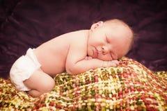 Słodcy dziecko sen Fotografia Royalty Free