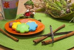Słodcy kolorowi ciastka Zdjęcia Royalty Free