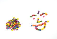 słodcy kolorowi smarties Fotografia Royalty Free