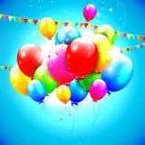 Słodcy urodzin balony Obrazy Royalty Free