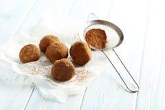 Słodka czekoladowa trufla Zdjęcia Stock
