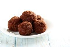 Słodka czekoladowa trufla Zdjęcie Royalty Free