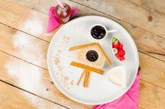 Słodka kanapka i cukierki Fotografia Stock