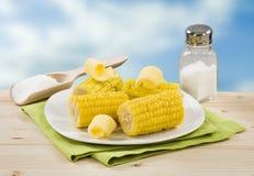 słodka kukurydza wyparzonych Obrazy Royalty Free