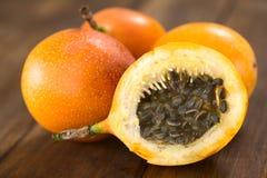 Słodka passiflora lub Grenadia Zdjęcia Stock