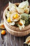 Słodki agrest na drewnianym stole Fotografia Stock