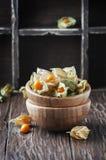 Słodki agrest na drewnianym stole Fotografia Royalty Free