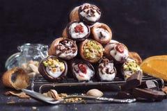 Słodki cannoli Fotografia Stock