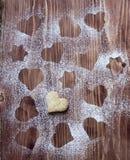 Słodki ciastko z cukierem na drewnianym tle Zdjęcie Stock