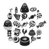 Słodki cukierek ikony set, prosty styl ilustracji
