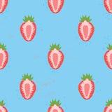 Słodki jagodowy bezszwowy wzór Obrazy Royalty Free