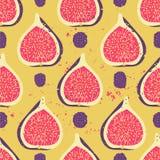 Słodki jagodowy bezszwowy wzór Zdjęcie Stock