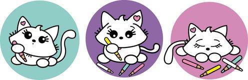 słodki kotek Obrazy Royalty Free