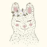 słodki królik czarny wizerunku portreta rocznika biel Zdjęcie Stock