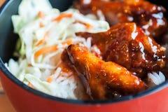 Słodki kumberlandu kurczak z Rice Obraz Royalty Free