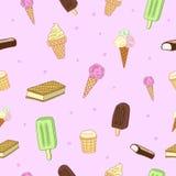 Słodki lody wzór Obraz Royalty Free