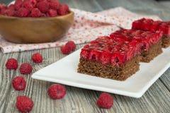 Słodki malinowy czekoladowy kulebiak Obraz Royalty Free