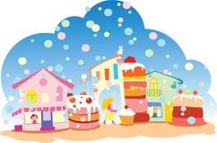 słodki miasteczko ilustracji