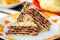 słodki torta gofr Zdjęcie Royalty Free
